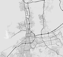 Valencia, Venezuela Map. (Black on white) by Graphical-Maps