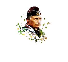 Vladimir Putin - Flowers Photographic Print
