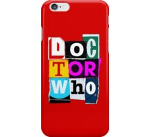 Doctor Who Collage iPhone Case/Skin