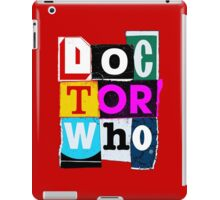 Doctor Who Collage iPad Case/Skin