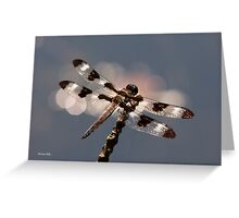 Luminous Dragonfly Greeting Card