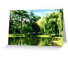 Willow By the Lake Greeting Card