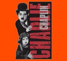 Charlie Chaplin with the kid sneak a peek Kids Clothes