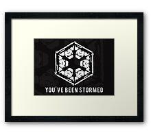 You've Been Stormed Framed Print