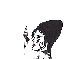 Warrior woman - sketch by minderien