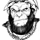 gangster chimp...black and white by camillo88