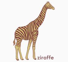 A stripy giraffe? No, it's a Ziraffe Kids Clothes