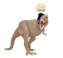 Haikyuu!! - Tsukishima & T-Rex by TrashCat