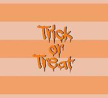Halloween - Stripes, Trick or Treat - Black Orange  by sitnica