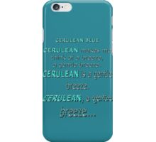 Cerulean Blue iPhone Case/Skin