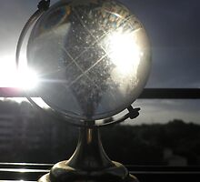 Beautiful Sun-rays and Crystal Globe by Nandika-Dutt