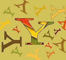 Colorful Letter Y by Sean Brett