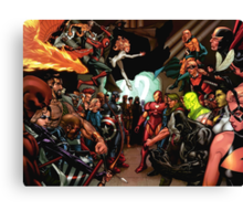 The Avengers Civil war Canvas Print