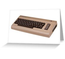 Commodore 64 - C64 - Vintage Home Computer - 8 Bit Classic Greeting Card