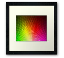Peachy Peacock Pixelate [Rainbow] Framed Print