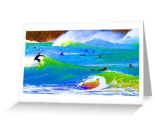 80'S Surf Style -  Beach Break Blues Greeting Card