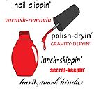 Nail Tech (red polish) by Jeff Newell
