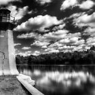 Lighthouse Along the Fox River Geneva, Illinois by Roger Passman