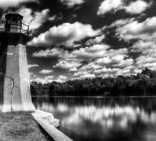 Lighthouse Along the Fox River Geneva, Illinois by Roger Passman