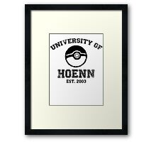University of Hoenn Framed Print