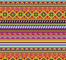 Colorful Aztec Pattern  by astraeanm