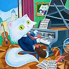 Ludwig van Caathoven (Pillows & Totes) by Wil Zender