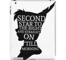 Peter Pan Quote Silhouette -- Second Star iPad Case/Skin