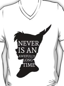 Peter Pan Quote Silhouette -- Never Is T-Shirt