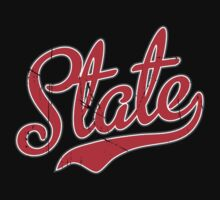 State Script Red VINTAGE by USAswagg2