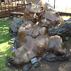 Bear Sculpture, Canyon Road, Santa Fe, New Mexico by lenspiro