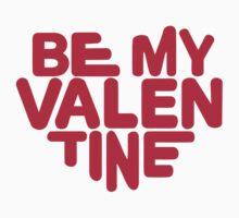 Be my valentine red heart by Designzz