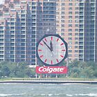 Classic Colgate Clock, Jersey City, New Jersey by lenspiro