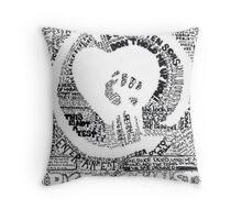 Rise Against Heart-fist Throw Pillow