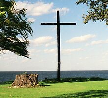 The Old Wooden Cross by Timothy  Ruf