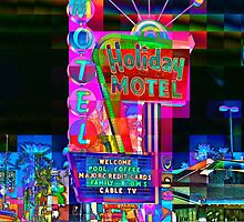 Las Vegas Motel - City Mosaics Series by willb