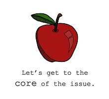 Let's get to the core of the issue. by tosojourn