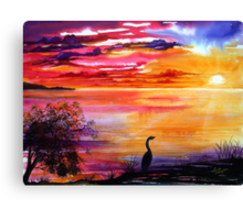 Colours of Sunset   Canvas Print