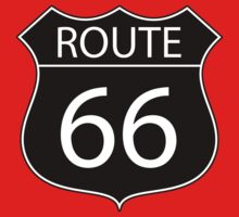 Route 66 Road Sign Kids Clothes