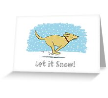 Snow Dog Holiday - Yellow Lab Greeting Card
