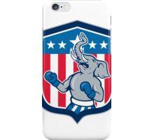 Republican Elephant Boxer Mascot Shield Cartoon iPhone Case/Skin