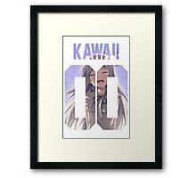 Kawaii Jersey Framed Print