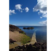 Crystal Clear Sea, Gorey, Jersey Photographic Print