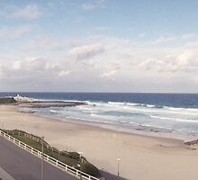 Newcastle Beach Panorama by ozscottgeorge