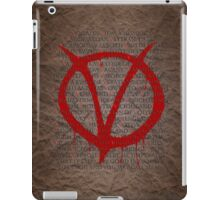 V for Vendetta iPad Case/Skin