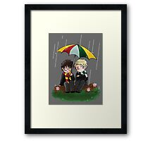 Harry and Draco Chibis Framed Print