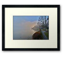 Shore in the Fog Framed Print