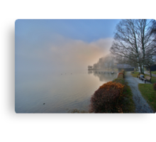 Shore in the Fog Canvas Print