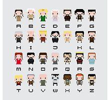 Game of Thrones Alphabet by Sergei Vozika