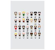 Game of Thrones Alphabet Photographic Print