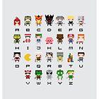 Video Games Alphabet by Sergei Vozika